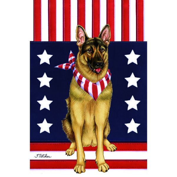 USA German Shepherd Flag