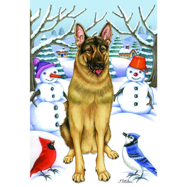 Winter Wonderland German Shepherd Flag