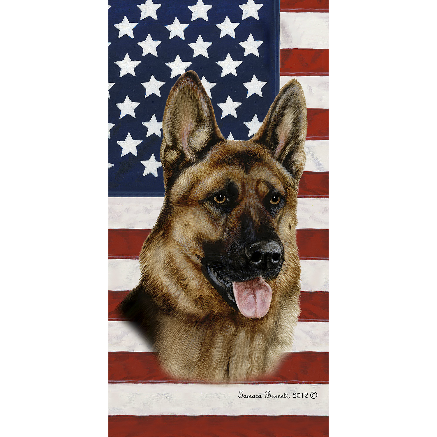 Patriotic German Shepherd Beach Towel