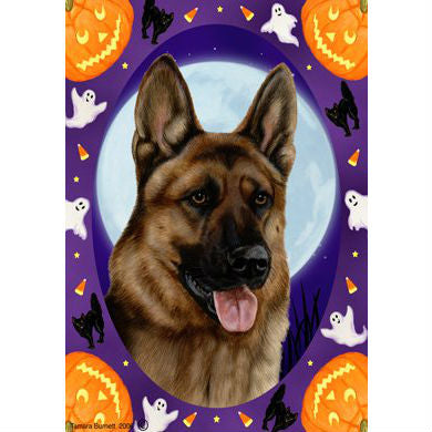 Tamara Burnett Halloween Howls German Shepherd Flag