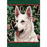 Christmas German Shepherd Flag