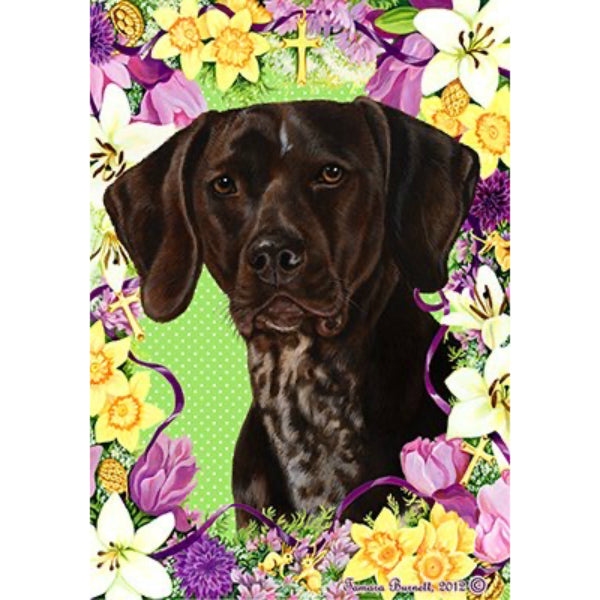 Easter German Shorthaired Pointer Flag