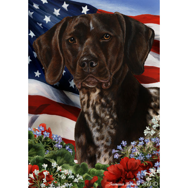 Patriotic German Shorthaired Pointer Flag