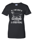 Ladies' All I Care...Dachshund Tee