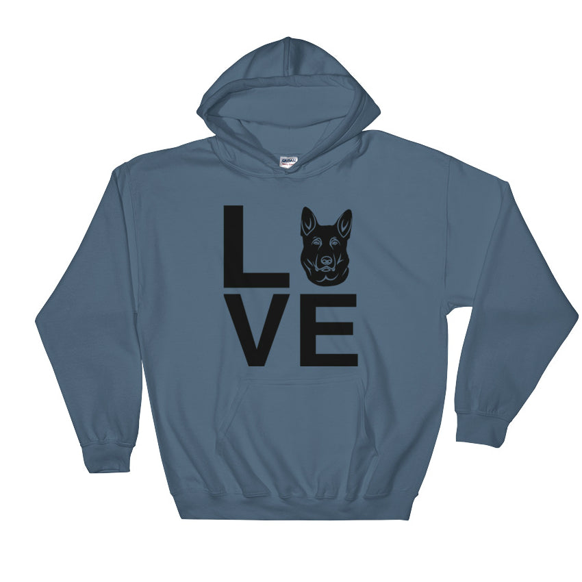 Black German Shepherd Love Hoodie