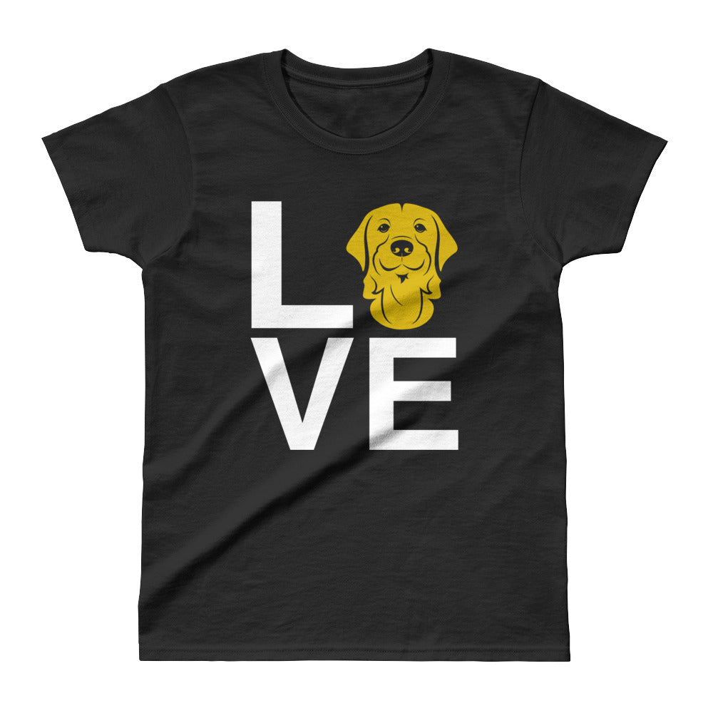 Ladies' Golden Retriever Love Tee