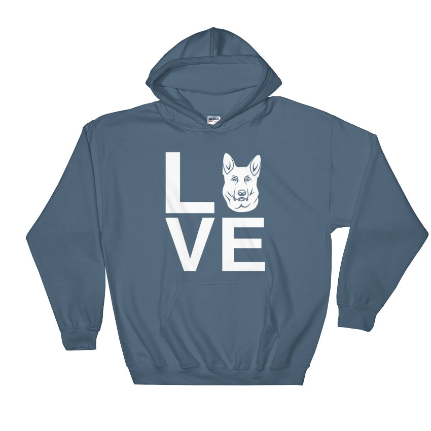 White German Shepherd Love Hoodie