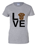 Ladies' Chocolate Lab Love Tee
