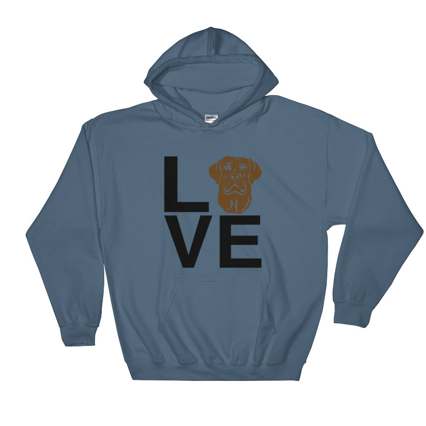 Chocolate Lab Love Hoodie