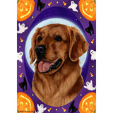 Halloween Howls Golden Retriever Flag