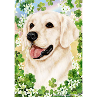St. Patrick's Day Golden Retriever Flag