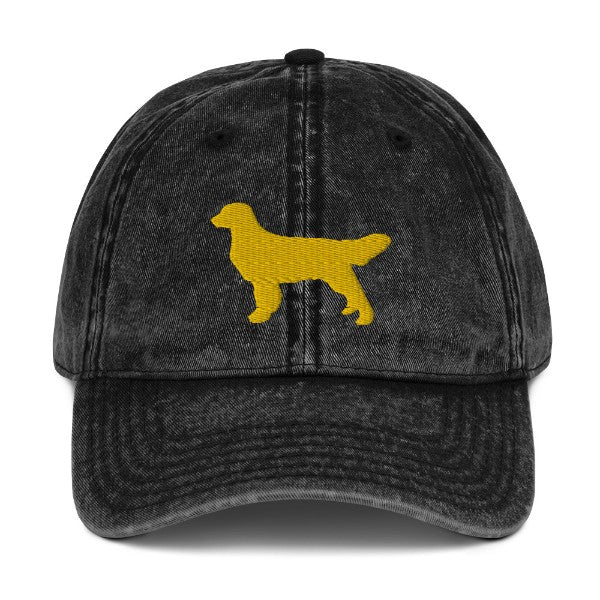 Golden Retriever Silhouette Hat