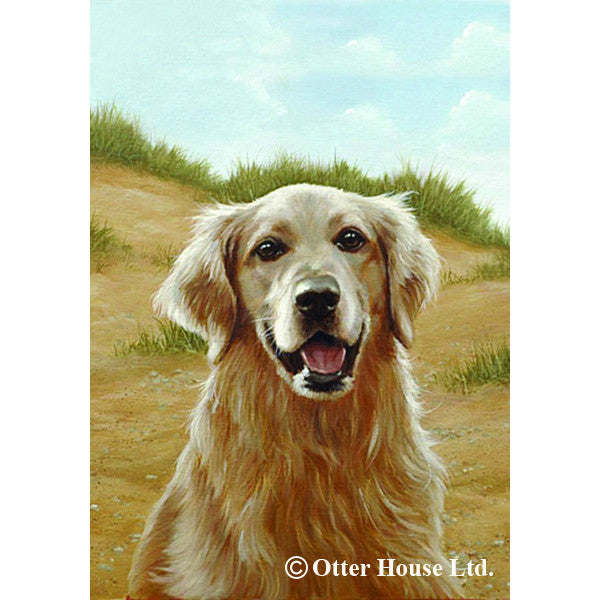 Golden Retriever Flag By John Silver