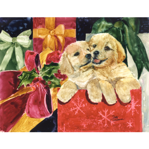 golden retriever christmas cards pack of 10