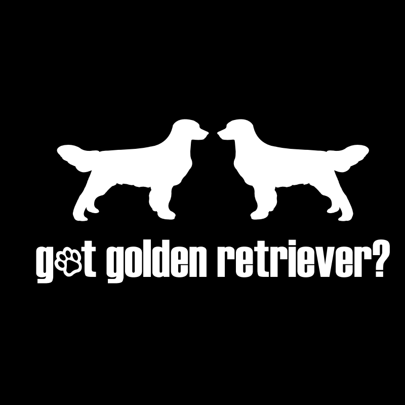 Got Golden Retriever? Vinyl Car Window Decal