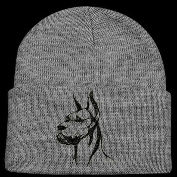 Great Dane (Cropped Ears) Knit Ski Hat