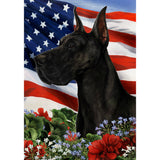 Tamara Burnett Patriotic Great Dane Flag