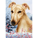 Tamara Burnett Winter Berries Greyhound Flag