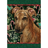 Tamara Burnett Christmas Greyhound Flag