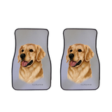 Golden Retriever Car Mats (Set of 2)