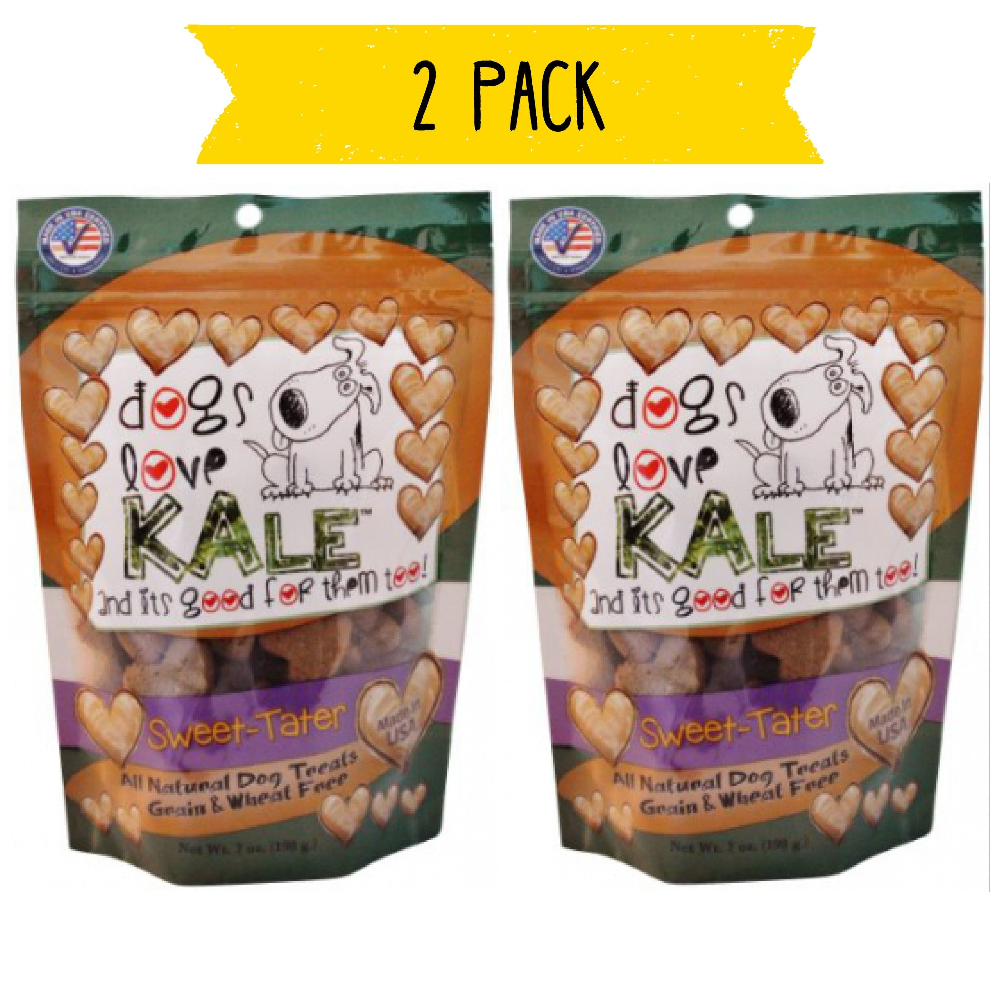 Dogs Love Kale Grain Free Treats - Sweet Tater