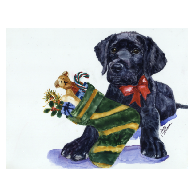 Lab Christmas Cards (Pack of 10)