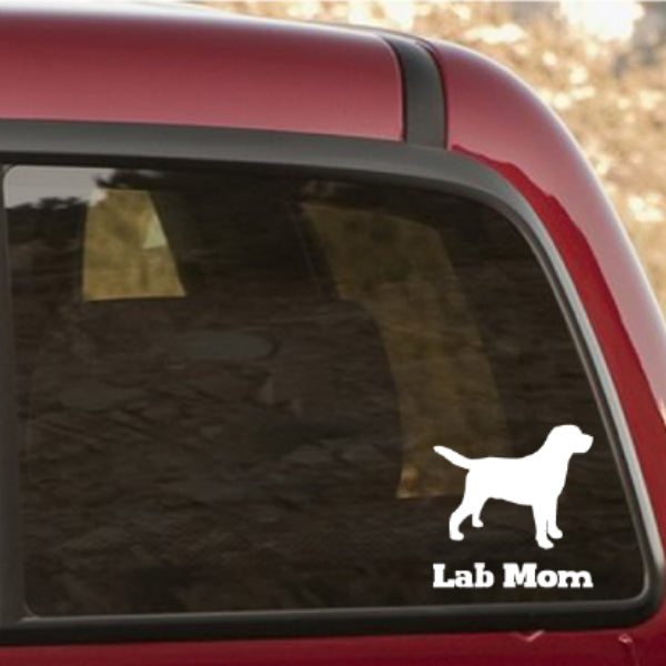 Lab Mom/Dad Vinyl Car Window Decal