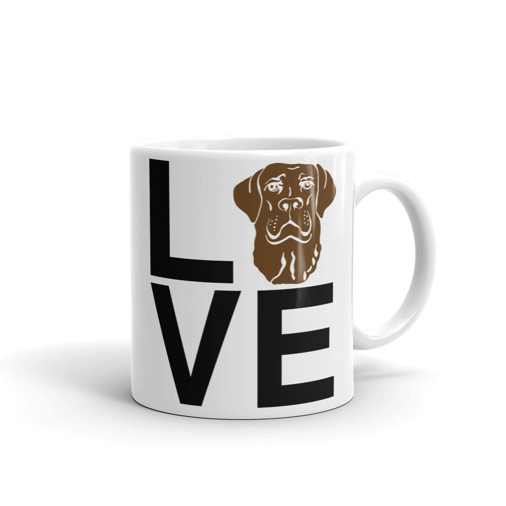 Chocolate Lab Love Mug