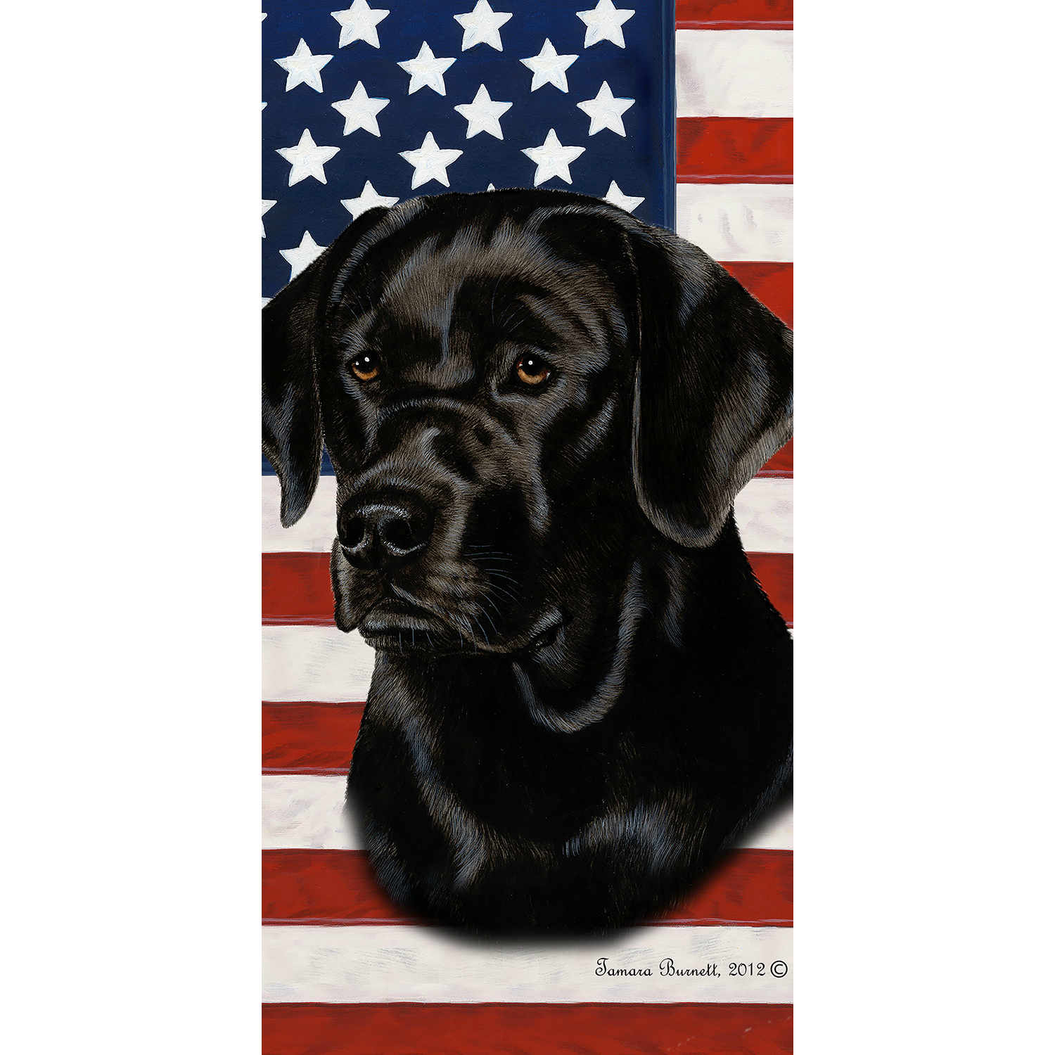 Patriotic Labrador Retriever Beach Towel