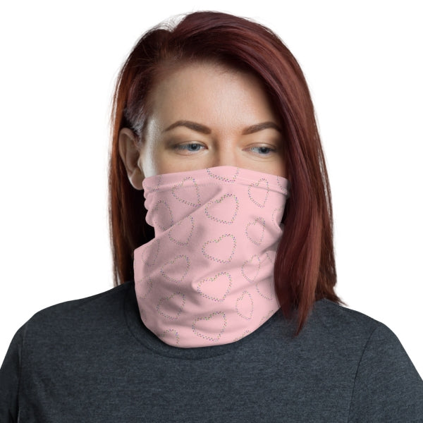 Paw Heart Neck Gaiter Face Covering