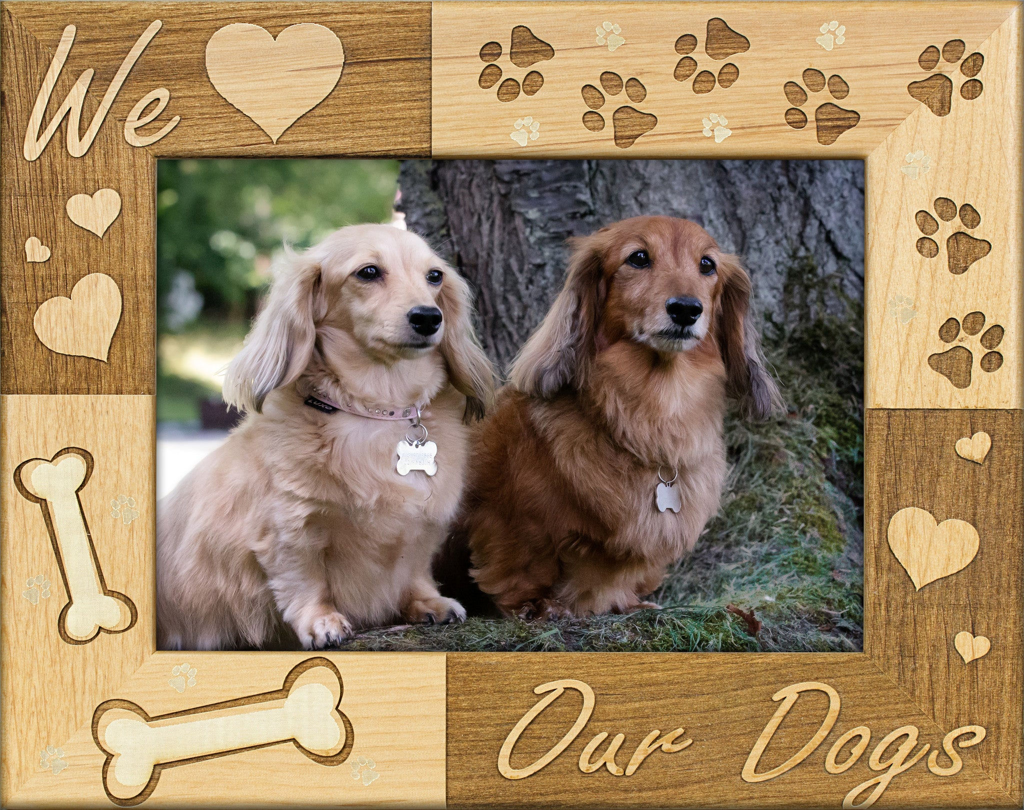 We Love Our Dogs Alderwood Picture Frame