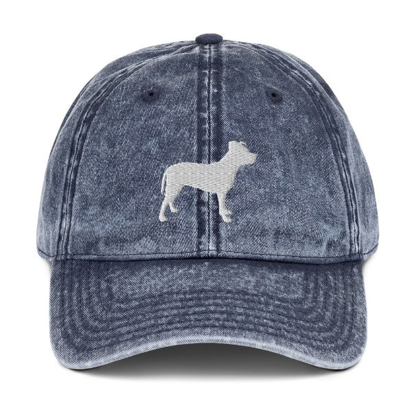 Pit Bull Silhouette Hat
