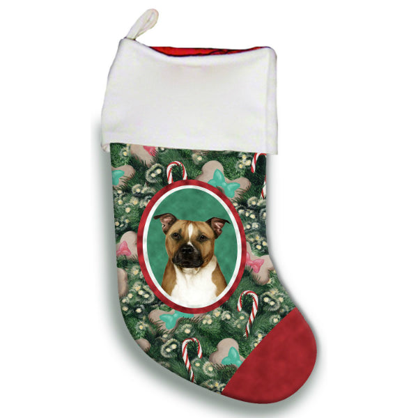 Pit Bull Christmas Stocking