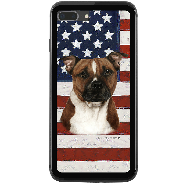 Patriotic Pit Bull Phone Case
