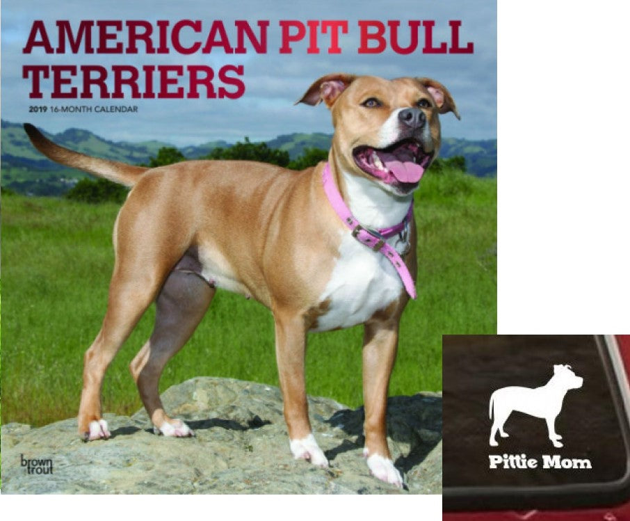 Pit Bull Lovers 2019 Calendar/Decal Set