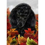 Tamara Burnett Fall Leaves Poodle Flag
