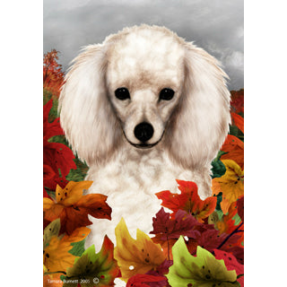 Fall Leaves Poodle Flag