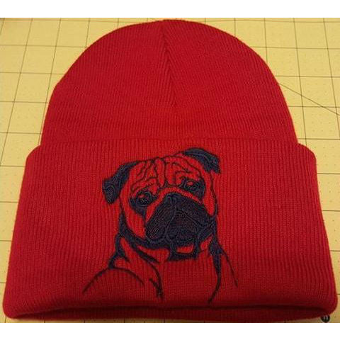 87692b1f4fb Pug Knit Ski Hat - Provides 4 Days of Food For Shelter Dogs! – A ...