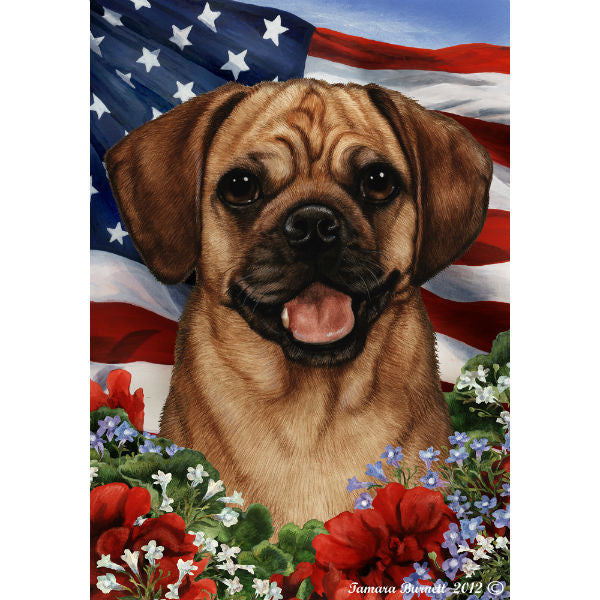 Patriotic Puggle Flag