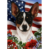 Patriotic Rat Terrier Flag