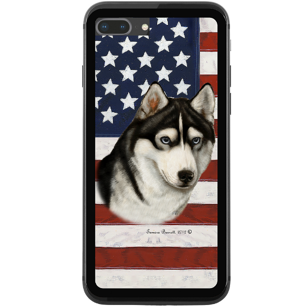 Patriotic Husky Phone Case