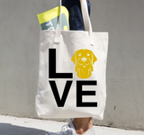 Golden Retriever Love Canvas Tote