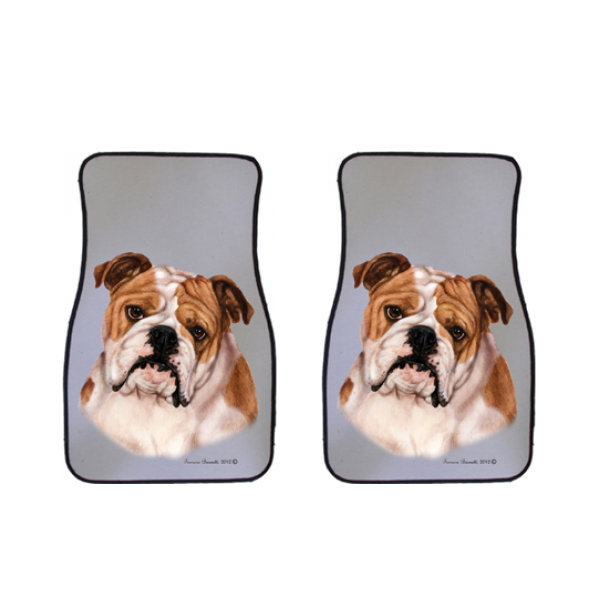 Bulldog Car Mats (Set of 2)