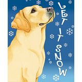 Let It Snow Lab Flag