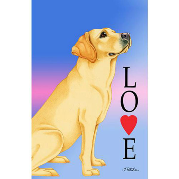 Tomoyo Pitcher Love Garden Flag - Labrador Retriever