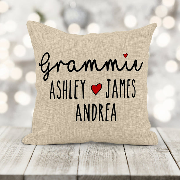 Personalized Lots of Love Family Pillows 16X16 Square