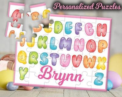 Personalized Girls Alphabet Name 30 Piece Puzzle