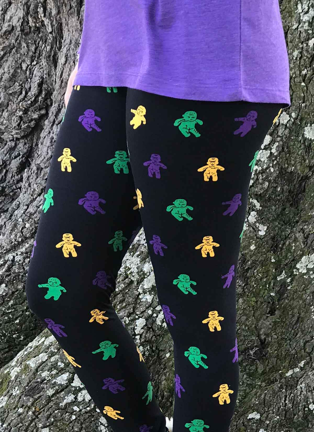 8209c20f0d795 Mardi Gras Baby King Cake Leggings - GLAM - Girls Love A Monogram