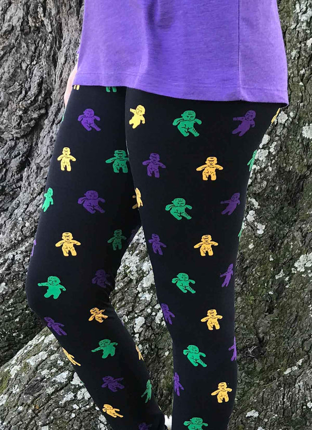 Mardi Gras Baby King Cake Leggings