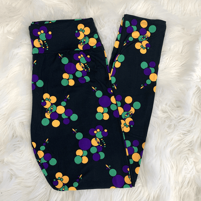 Mardi Gras Bead Dog Leggings | New Orleans Mardi Gras Bead Dog Leggings
